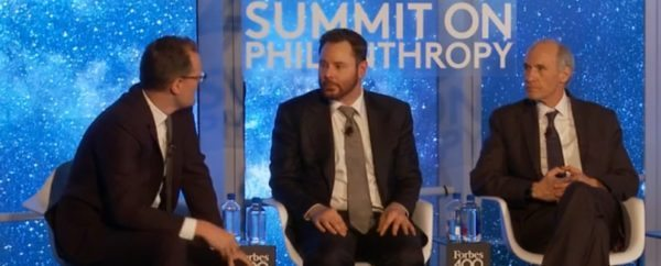 Forbes' Matt Herper with Sean Parker and Dr. Carl June