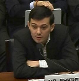 Martin Shkreli at the Developments in the Prescription Drug Market: Oversight hearing, 2016