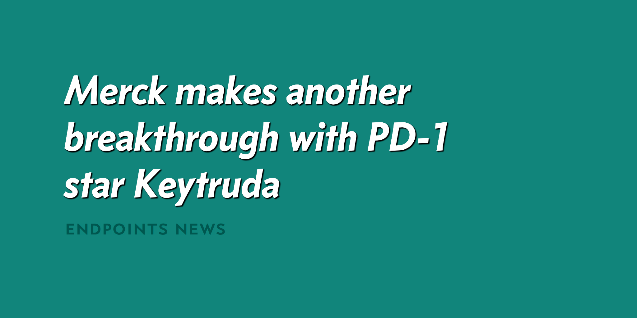FDA Breaks New Ground with Expanded Keytruda Indication