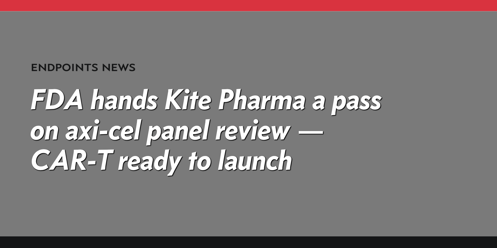 Kite Pharma, Inc. (NASDAQ:KITE) Expected To Report Earnings On Tuesday