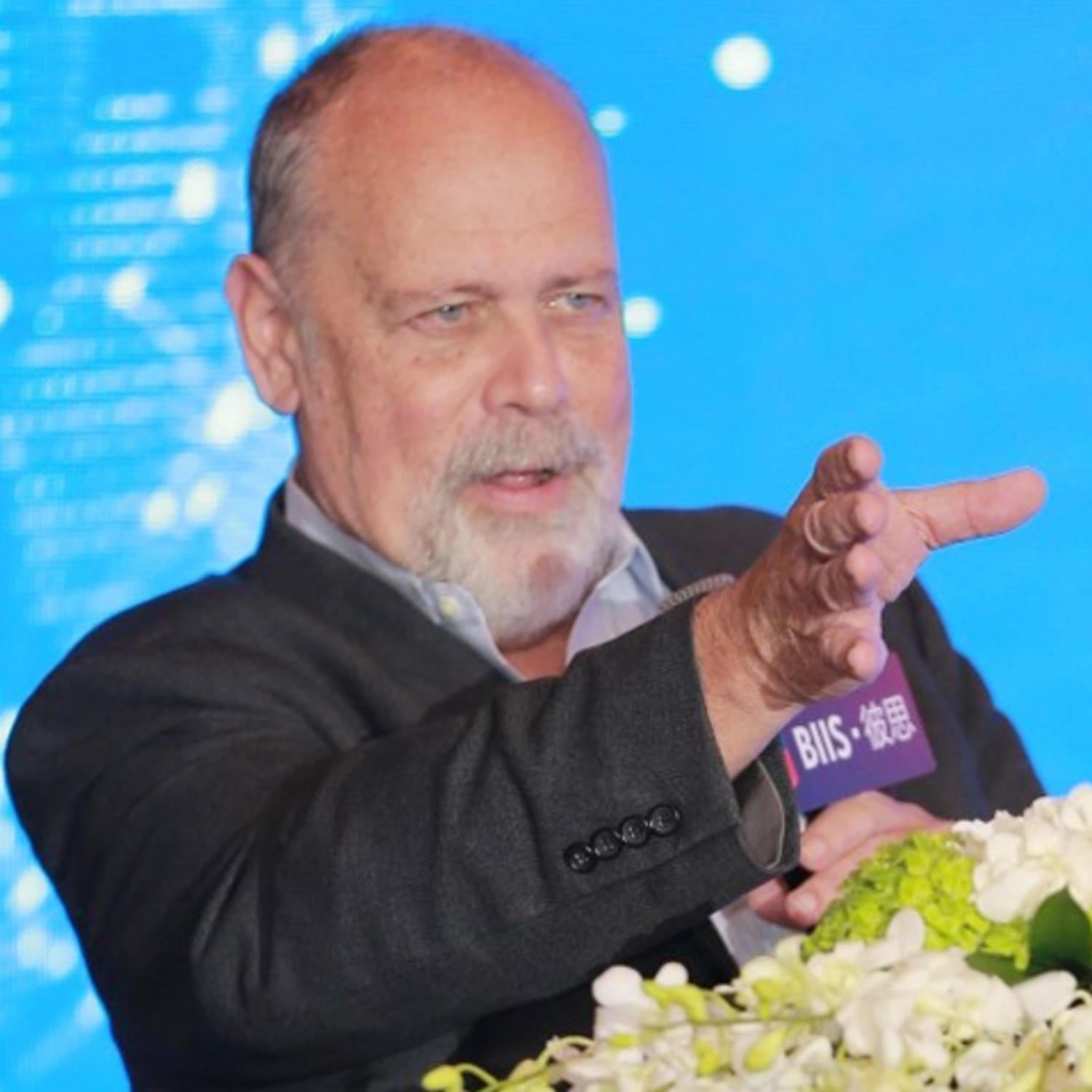 John Carroll at the US-China Biopharma Innovation and Investment Summit in Shanghai on October 23, 2018; Credit: Endpoints News, PharmCube
